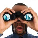 Black man binoculars