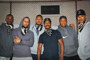 Left to Right: Mo McRae, Affion Crockett, Omar Benson Miller, Director Nate Parker, Terry Miller (brother of Omar Benson Miller) and Brian White Photo Credit eurweb.com